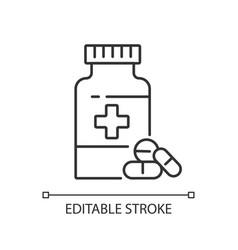 pharmacy linear icon vector image