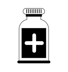 Pill flask healthcare related icon image vector