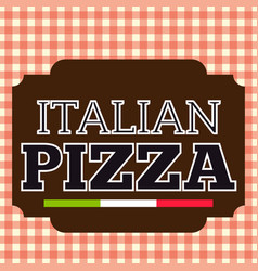 Pizza stamp brown logo italian vector
