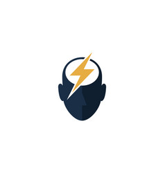 Power human head logo icon design vector