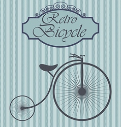 Retro bicycle on hipster background Vintage sign vector image