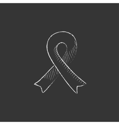 Ribbon Drawn in chalk icon vector