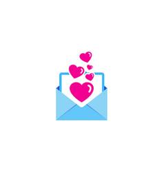 Romance mail logo icon design vector