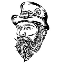 saint patrick head mascot vector image