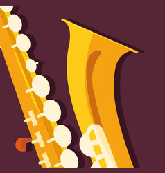 Saxophone instrument icon design vector
