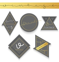 Set 5 label for business Label trademark vector image