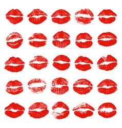 Set lip prints vector
