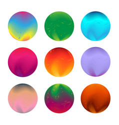 set of round colorful shapes abstract vector image