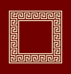 Square frame meander ansient pattern vector