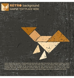 Tangram bird vector image