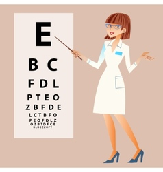 The doctor ophthalmologist examines your eyes vector