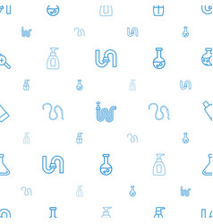 Tube icons pattern seamless white background vector