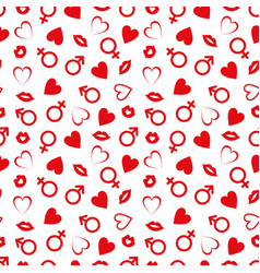 valentines day seamless patterns vector image