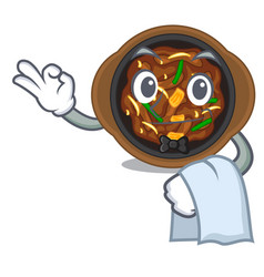 Waiter bulgogi in a cartoon shape vector