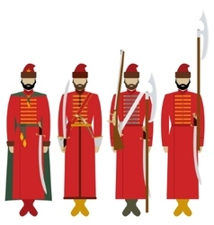 Weapons and uniforms archers in Russia vector
