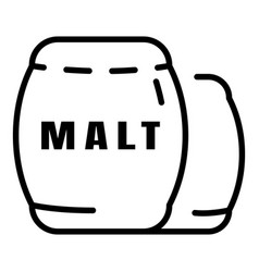 whiskey malt icon outline style vector image