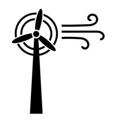 Wind turbine icon simple style vector