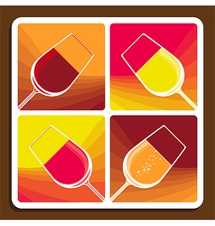 wine varieties vector image
