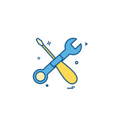 wrench screwdriver icon design vector image