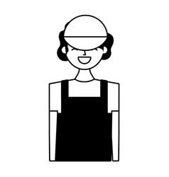 Young barista woman vector