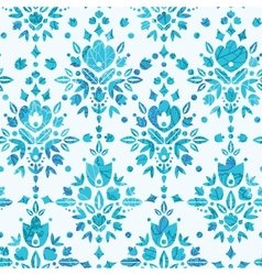 Abstract Flower Damask Seamless Pattern Background vector image vector image