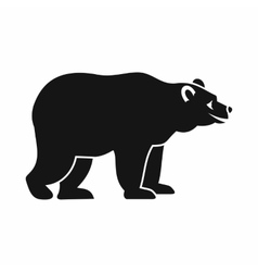 Bear icon simple style vector image vector image