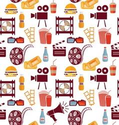 cinema pattern resize vector image