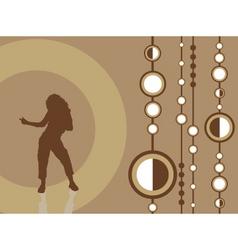 dancing female vector image