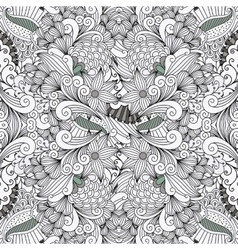 Ornamental leafy wave shapes as seamless pattern vector image vector image