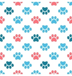 Paw Print seamless pattern vector image vector image
