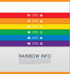 rainbow info art vector image vector image