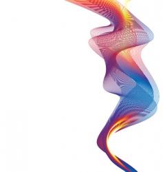 rainbow smoke background vector image vector image