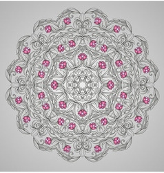 round detailed pattern vector image