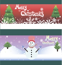 Set of two funny christmas cards vector image vector image