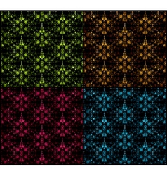 Set seamless damask pattern vector image vector image
