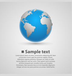 background with earth vector image vector image
