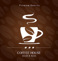 Coffee House cover presentation vector image