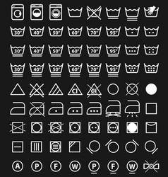 laundry icons and washing symbols vector image