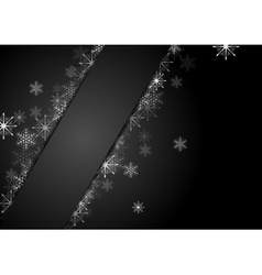 Silver grey snowflakes Christmas corporate vector image