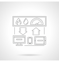 Smart house system detailed flat line icon vector image
