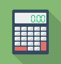 Calculator icon Modern Flat style with a long vector image