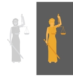 Lady Justice or Justitia vector image