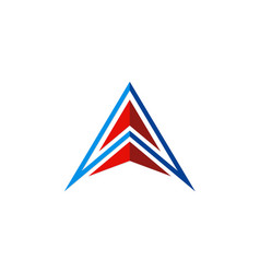 letter a pyramid geometry company logo vector image