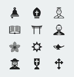 Set of 12 editable dyne icons includes symbols vector