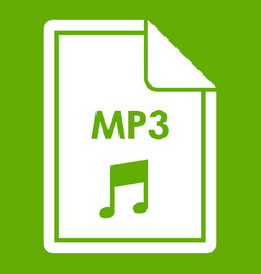 file mp3 icon green vector image vector image