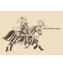 Horseback knight of the tournament vector
