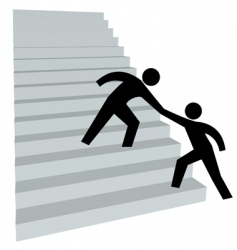 stairway to success vector image vector image