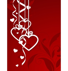 valentines shape vector image vector image