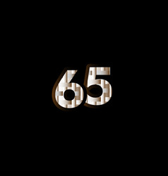 65 years anniversary celebration elegant black vector