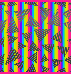 abstract rainbow triangle pattern vector image